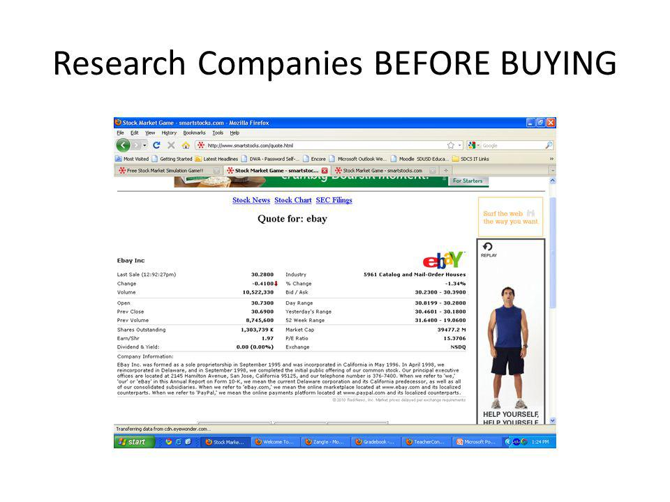 Research Companies BEFORE BUYING