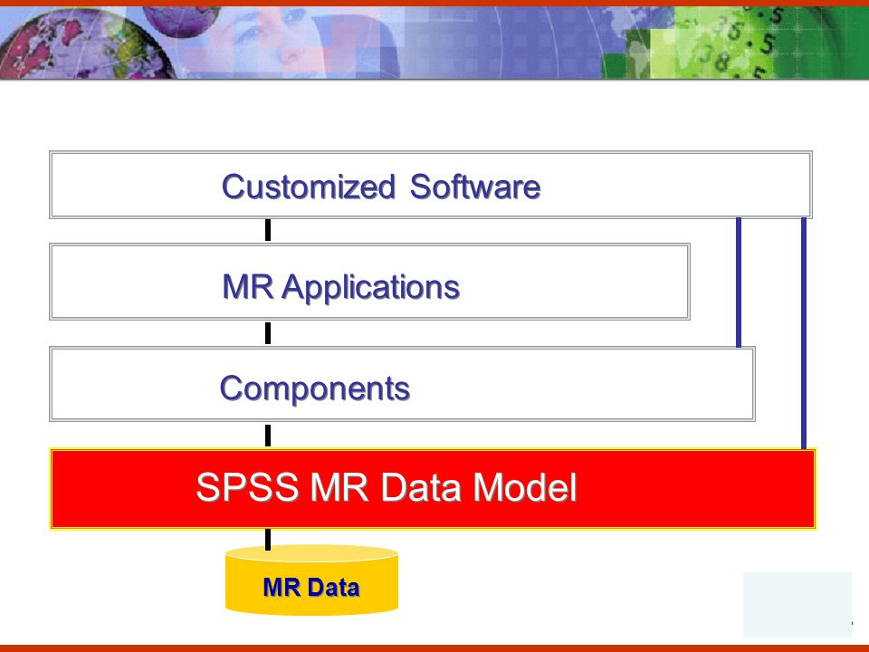 Components SPSS MR Data Model MR Applications MR Data Customized Software