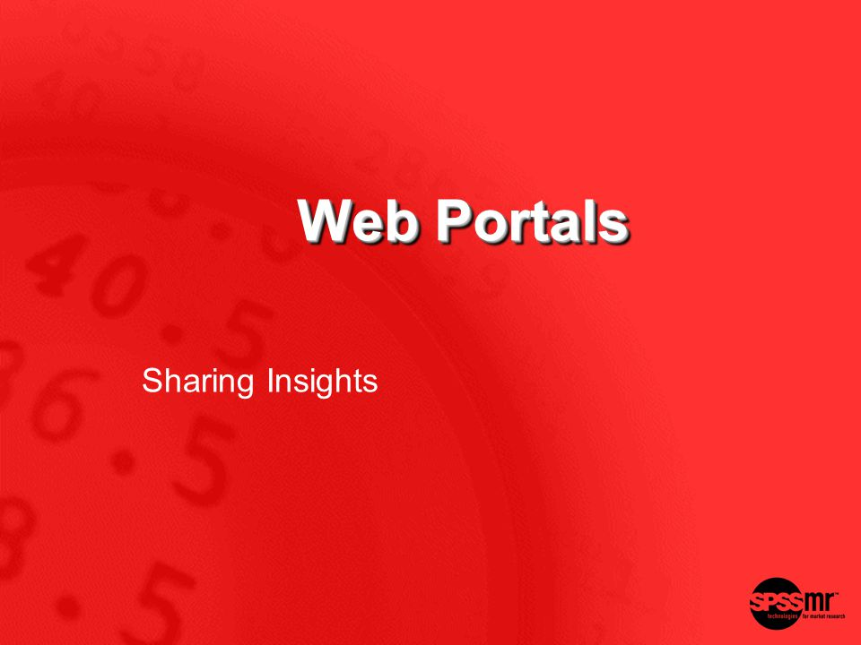 Web Portals Sharing Insights