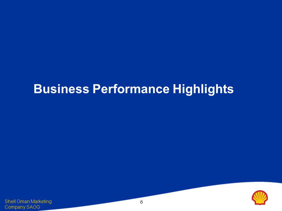 Shell Oman Marketing Company SAOG 6 Business Performance Highlights