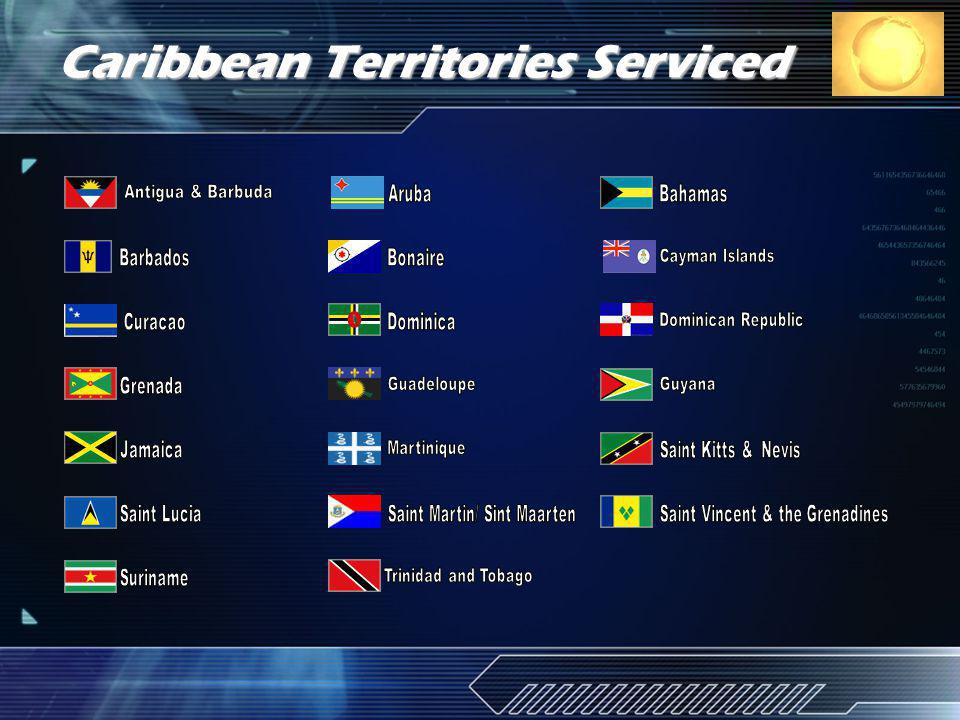 Caribbean Territories Serviced