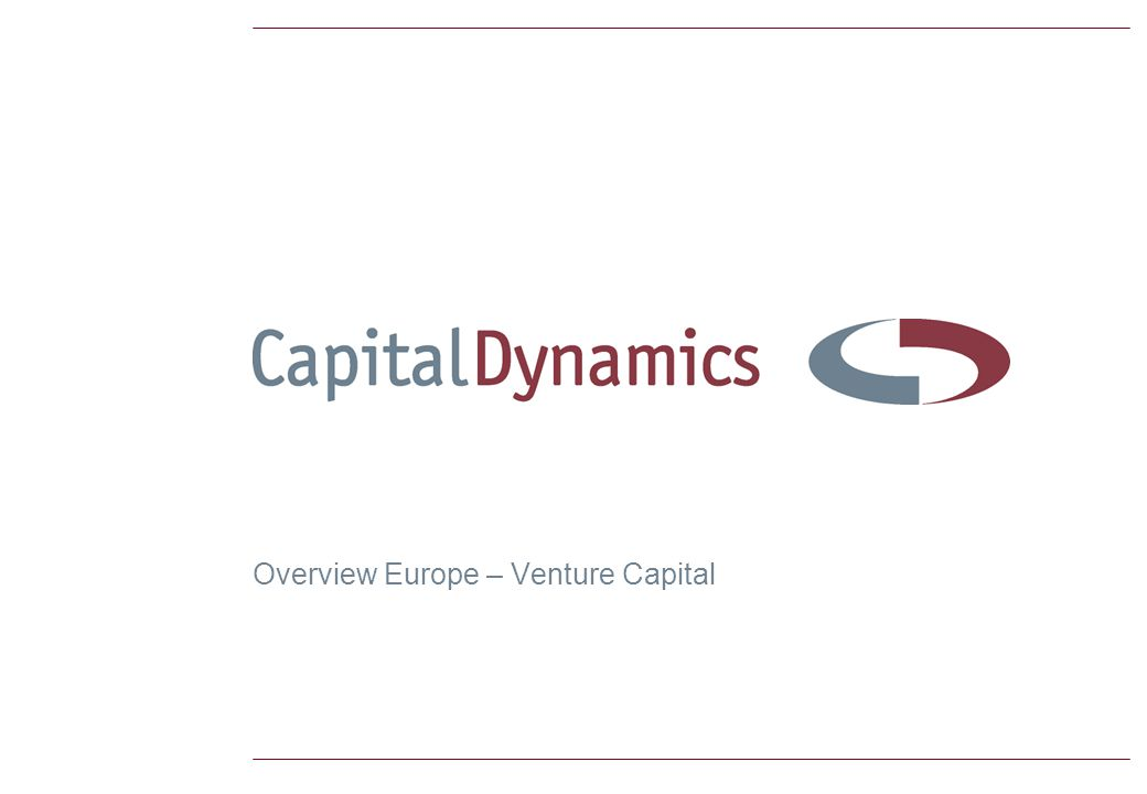 Overview Europe – Venture Capital