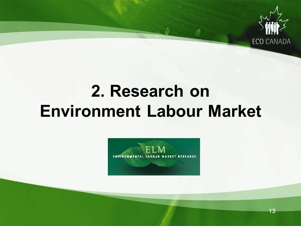 2. Research on Environment Labour Market 13