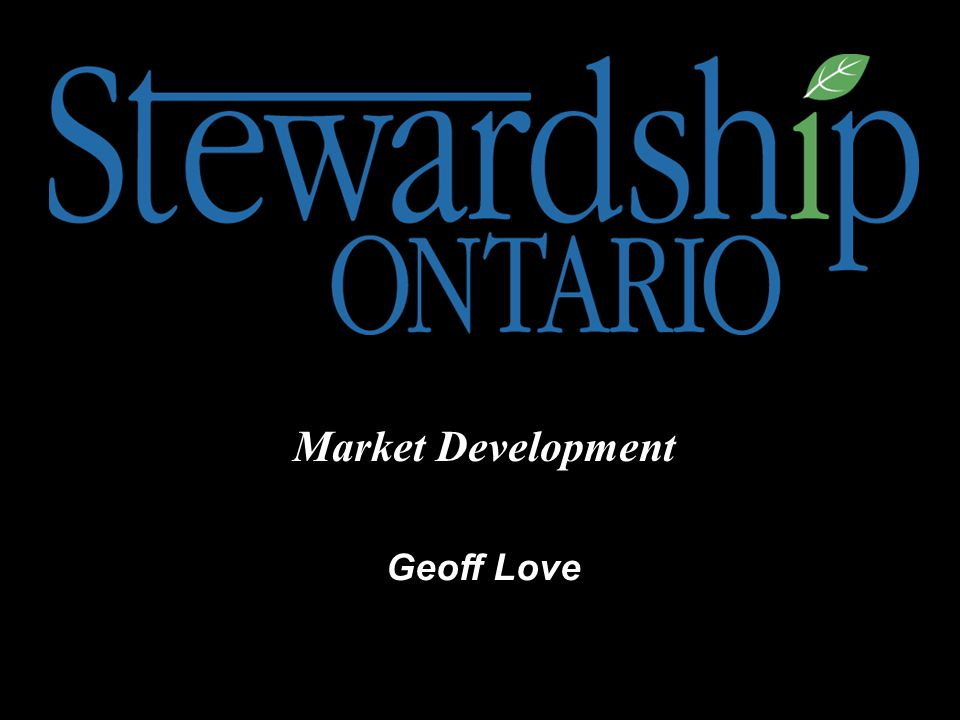 Geoff Love Market Development
