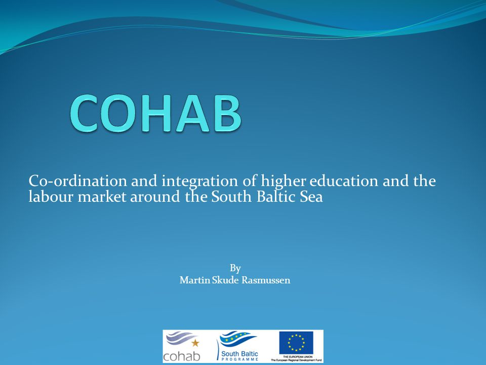 Co-ordination and integration of higher education and the labour market around the South Baltic Sea By Martin Skude Rasmussen