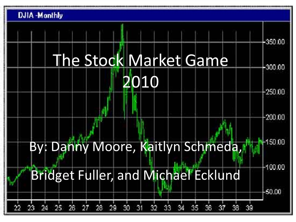 The Stock Market Game 2010 By: Danny Moore, Kaitlyn Schmeda, Bridget Fuller, and Michael Ecklund