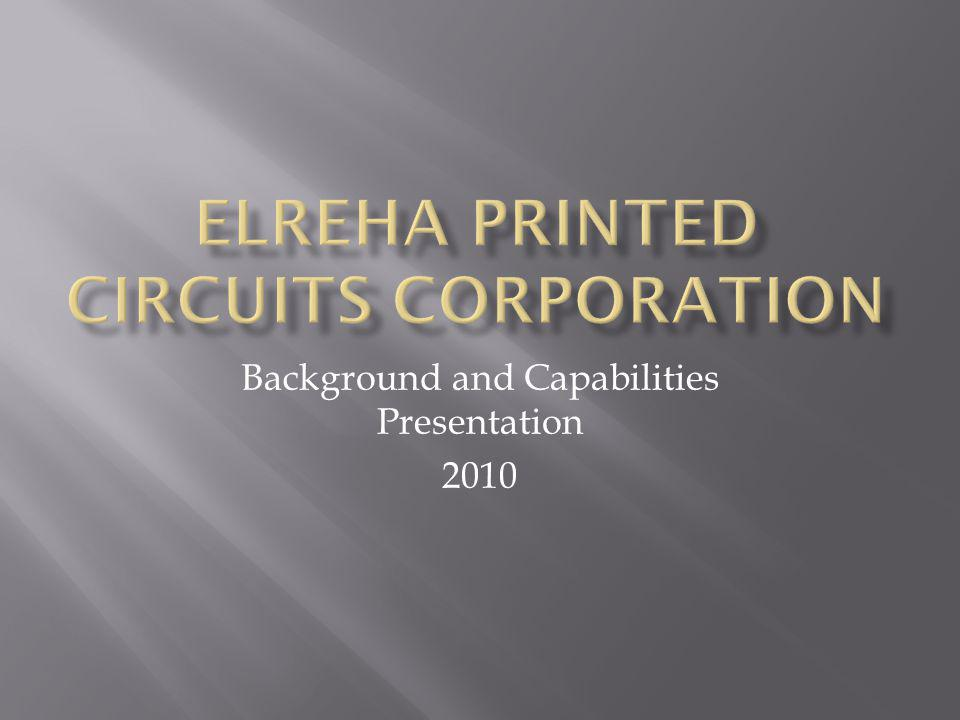 Background and Capabilities Presentation 2010