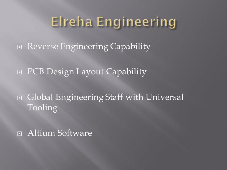 Reverse Engineering Capability PCB Design Layout Capability Global Engineering Staff with Universal Tooling Altium Software