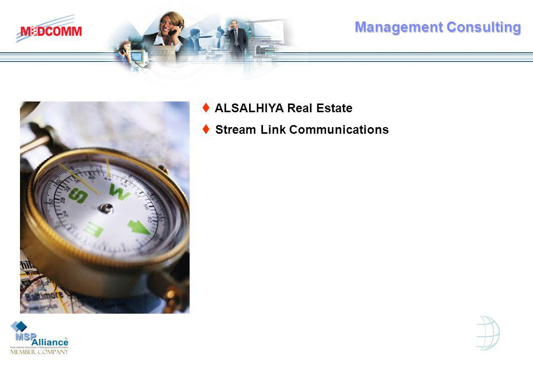 t ALSALHIYA Real Estate t Stream Link Communications Management Consulting