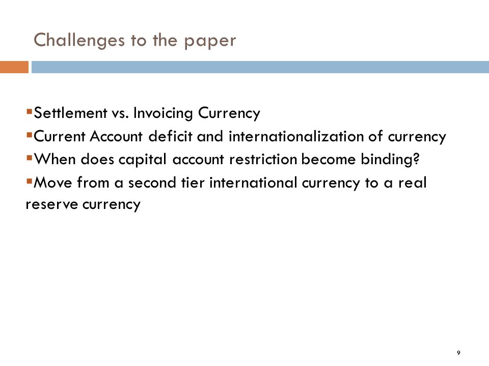 Challenges to the paper 9 Settlement vs.