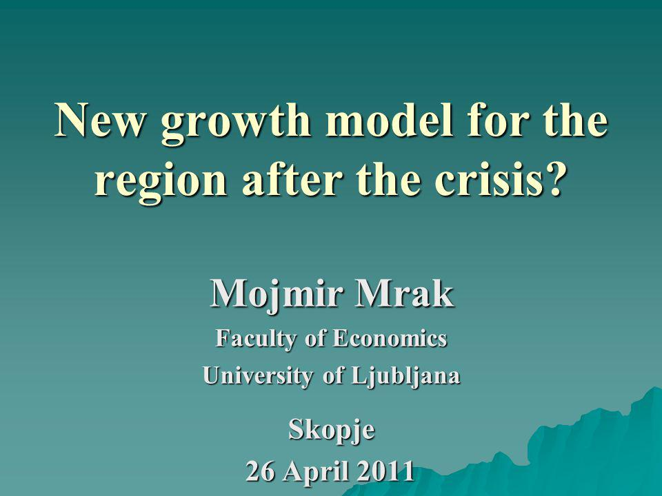 New growth model for the region after the crisis.