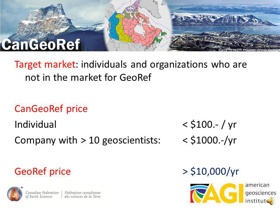 CanGeoRef contains references to: peer reviewed literature (journal articles) (chapters in) books GSC literature Conference proceedings and abstracts Provincial/Territorial Geological Survey reports and maps (support from CPTG) Theses Future: mineral assessment reports