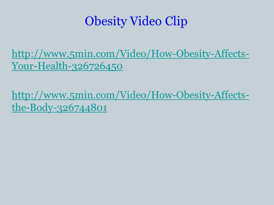 Obesity Video Clip   Your-Health the-Body