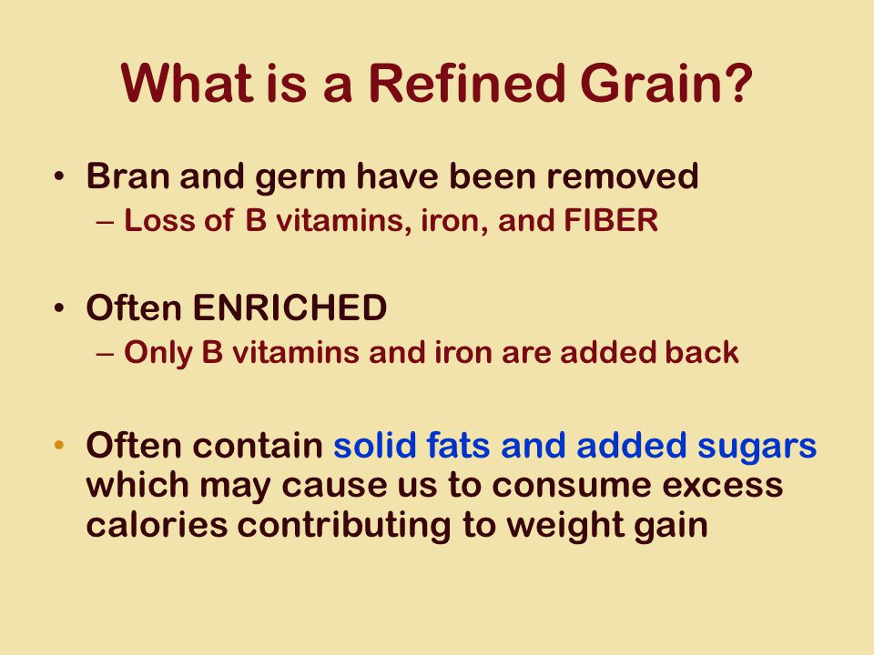 What is a Refined Grain.