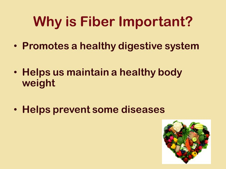 Why is Fiber Important.