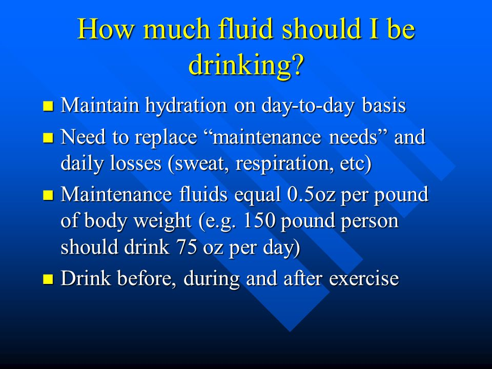 Why are fluids so important.