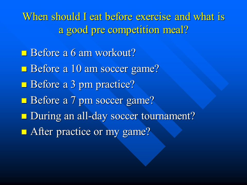 Whats the purpose of a pre- competition meal.