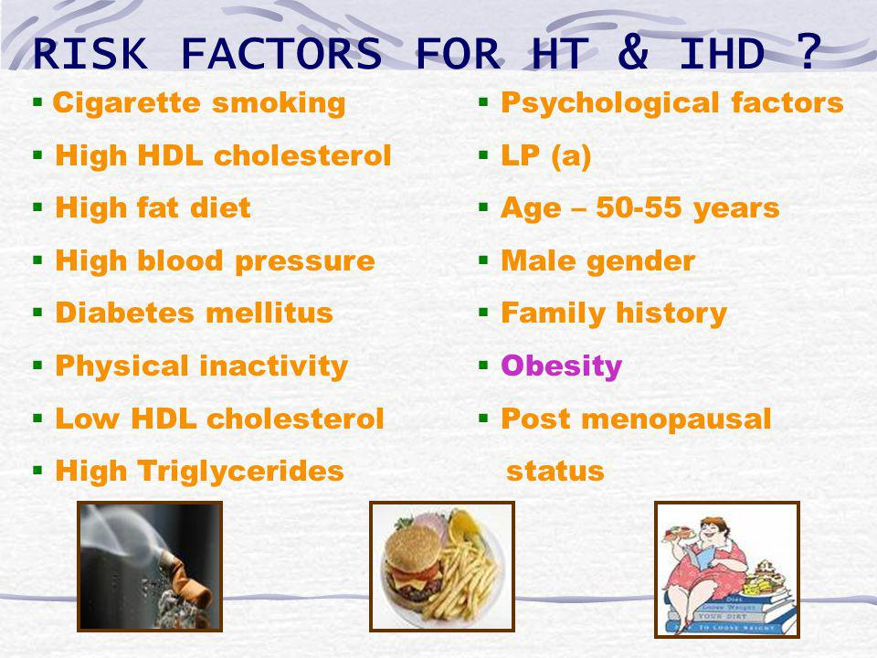 RISK FACTORS FOR HT & IHD .