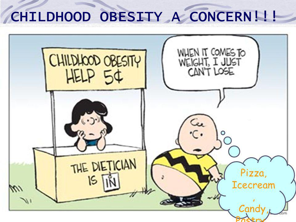 CHILDHOOD OBESITY A CONCERN!!! Pizza, Icecream, Candy, Pastry…