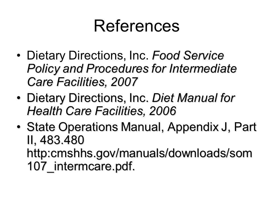 ensuring successful food service in dd residential facilities mary rh slideplayer com state operations manual appendix j 2017 state operations manual appendix z hospice