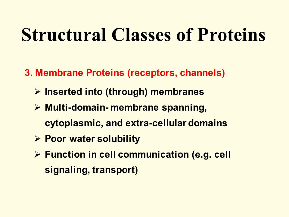 Structural Classes of Proteins 3.