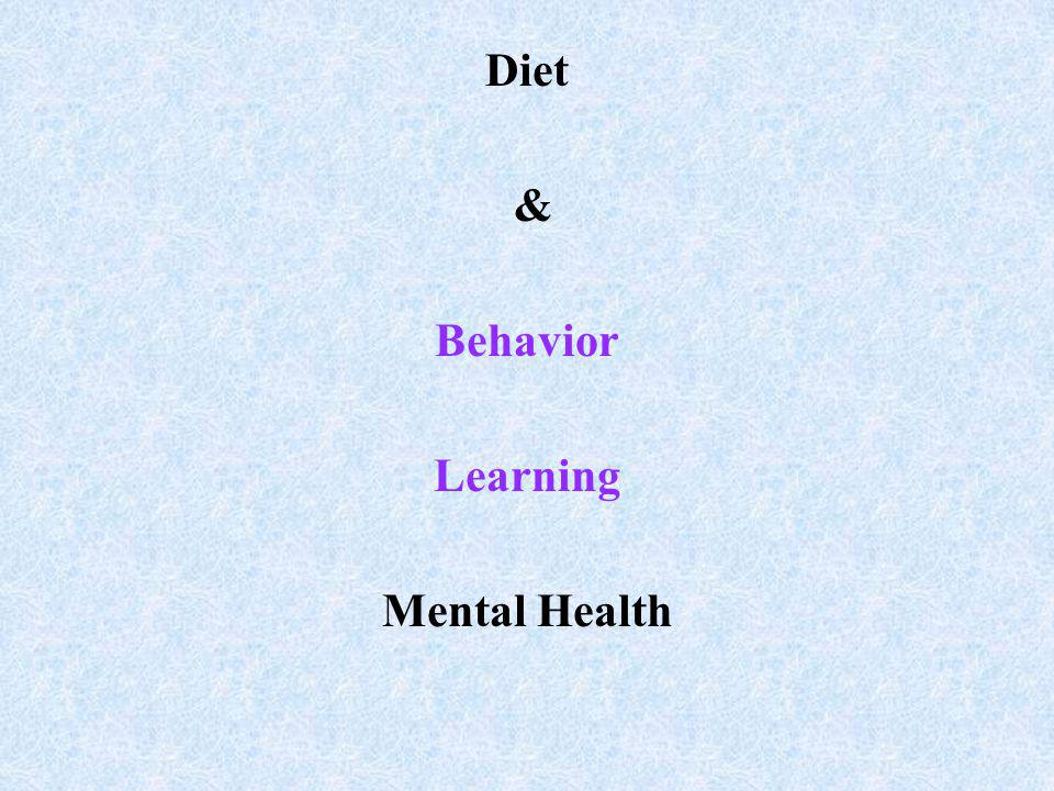Diet & Behavior Learning Mental Health