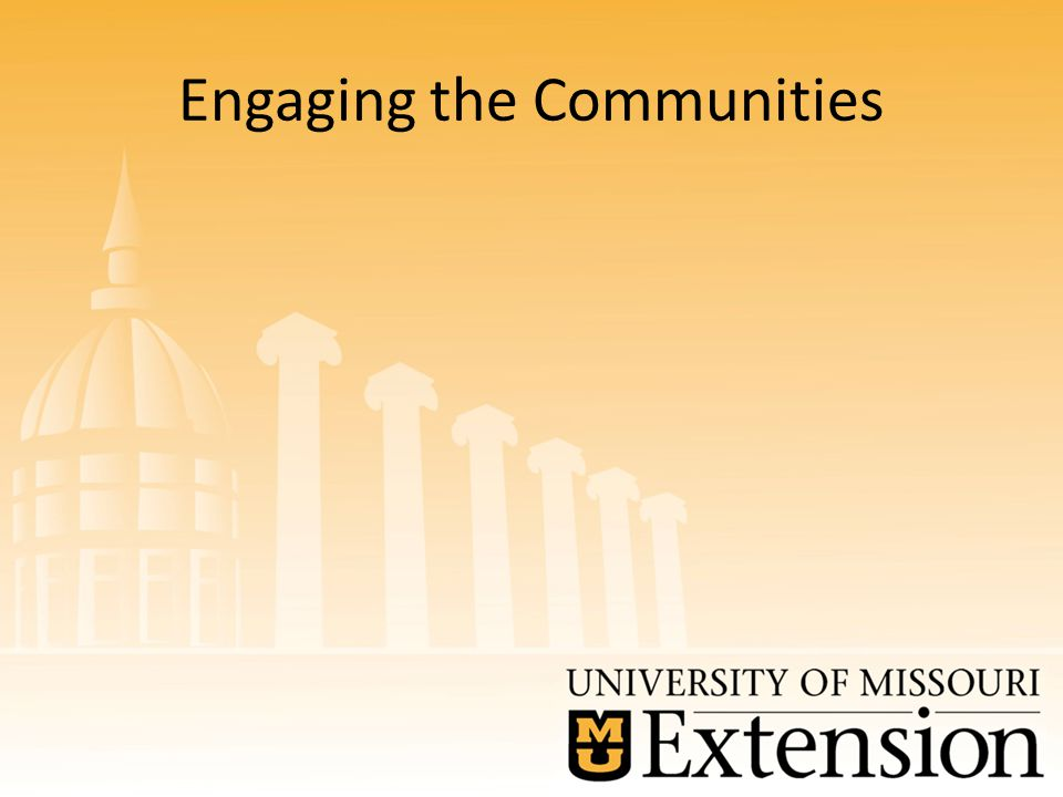 Engaging the Communities