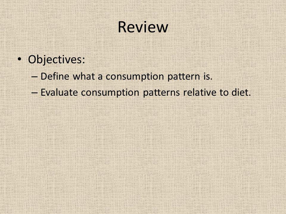 define consumption patterns