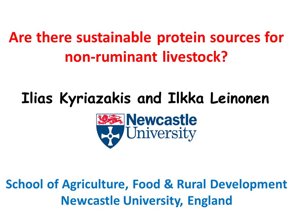 Are there sustainable protein sources for non-ruminant livestock.