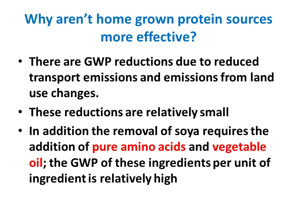 Why arent home grown protein sources more effective.