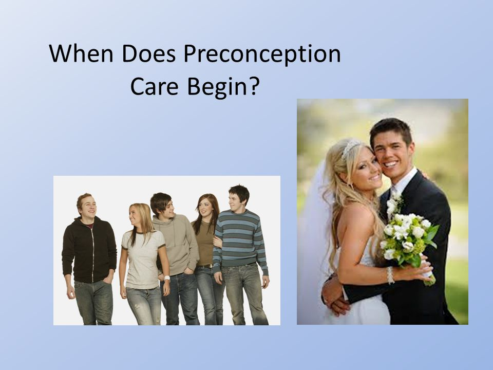 When Does Preconception Care Begin