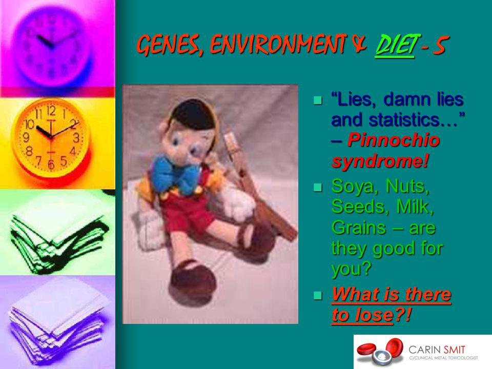 GENES, ENVIRONMENT & DIET - 5 Lies, damn lies and statistics… – Pinnochio syndrome.
