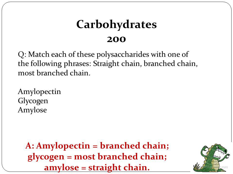 Carbohydrates 100 Q: Name the three kinds of monosaccharides commonly found in foods.