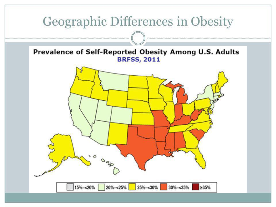 Geographic Differences in Obesity