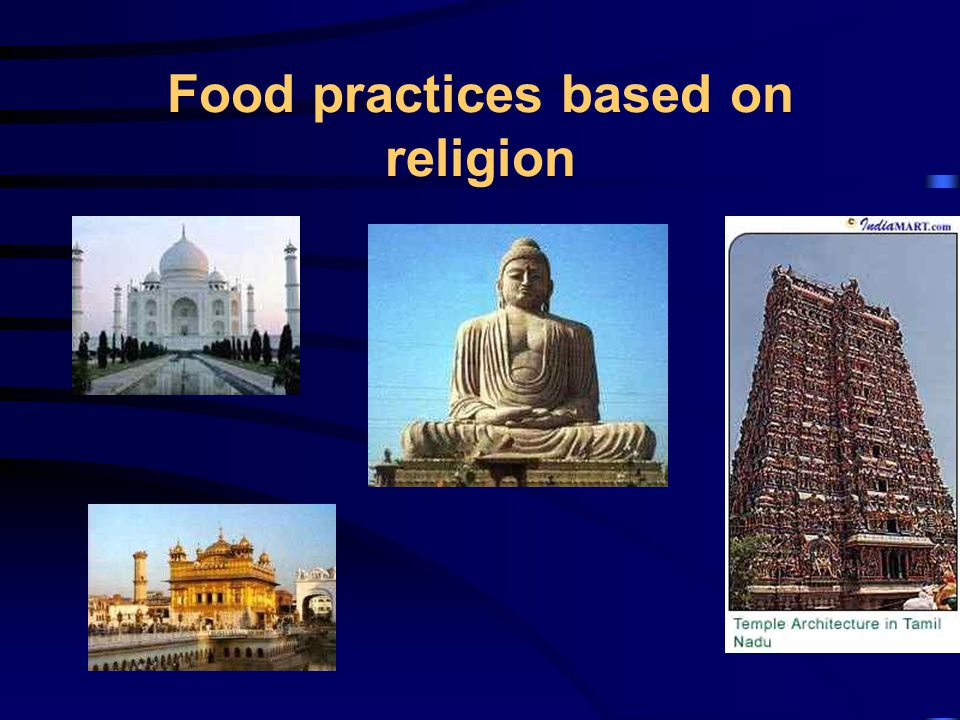 Food practices based on religion
