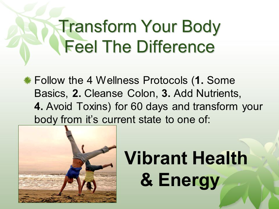 Transform Your Body Feel The Difference Follow the 4 Wellness Protocols (1.