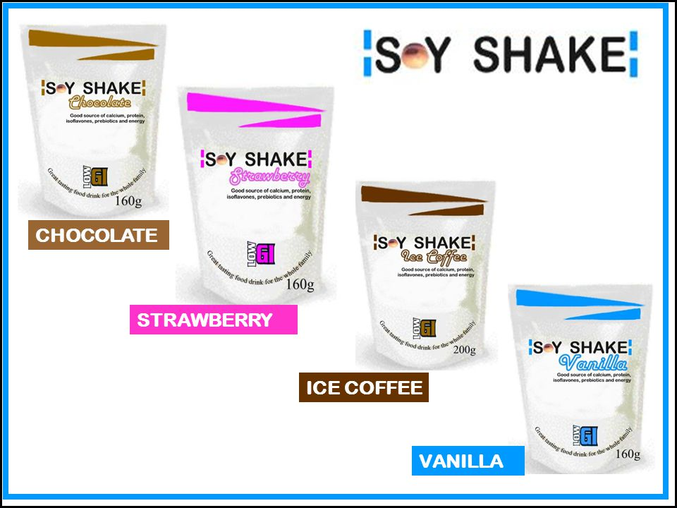 SOY SHAKE is a high quality flavoured instant beverage supplement that provides nutritional advantages versus comparable products based on whole milk powder.