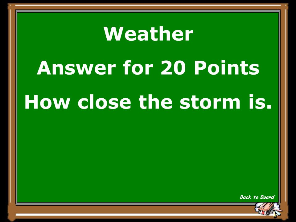 Weather Question for 20 Points If you count seconds between when you hear thunder and when you see a lightening strike what does it tell you.