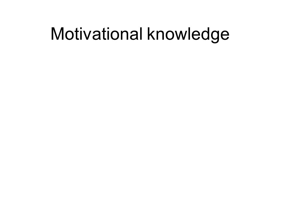 Motivational knowledge