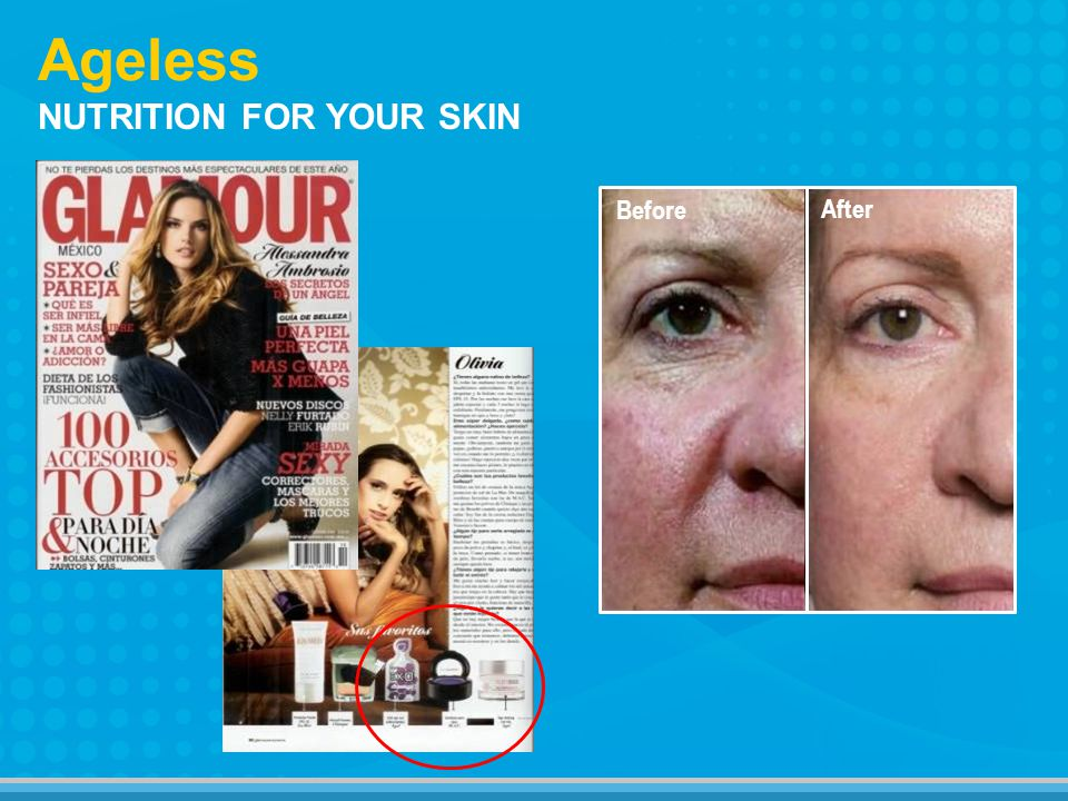 NUTRITION FOR YOUR SKIN Ageless Before After