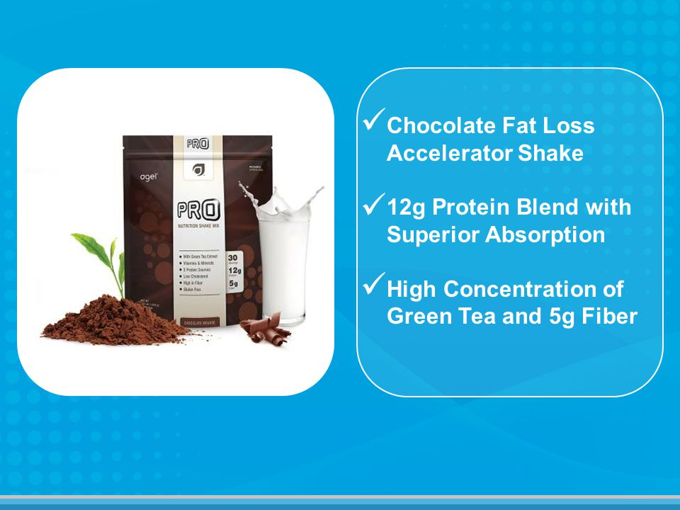 Chocolate Fat Loss Accelerator Shake 12g Protein Blend with Superior Absorption High Concentration of Green Tea and 5g Fiber