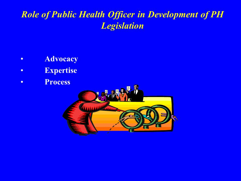 Role of Public Health Officer in Development of PH Legislation Advocacy Expertise Process