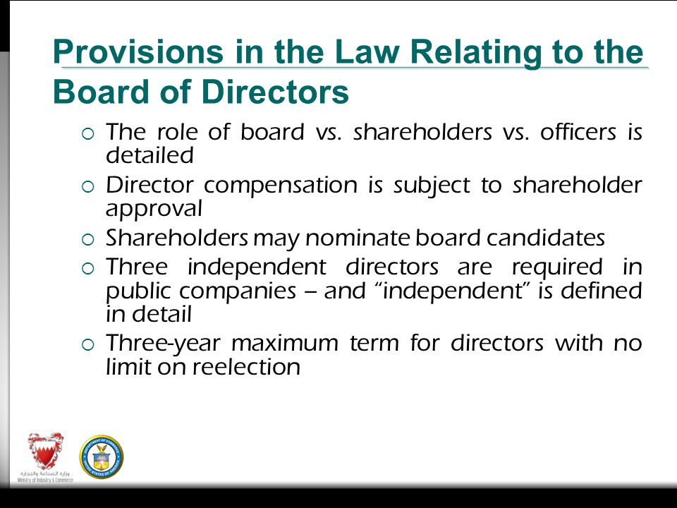 The role of board vs. shareholders vs.