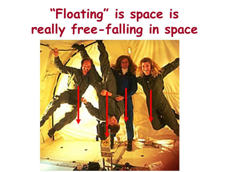 Floating is space is really free-falling in space