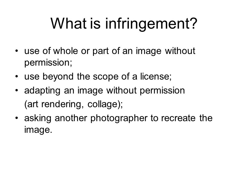 What is infringement.