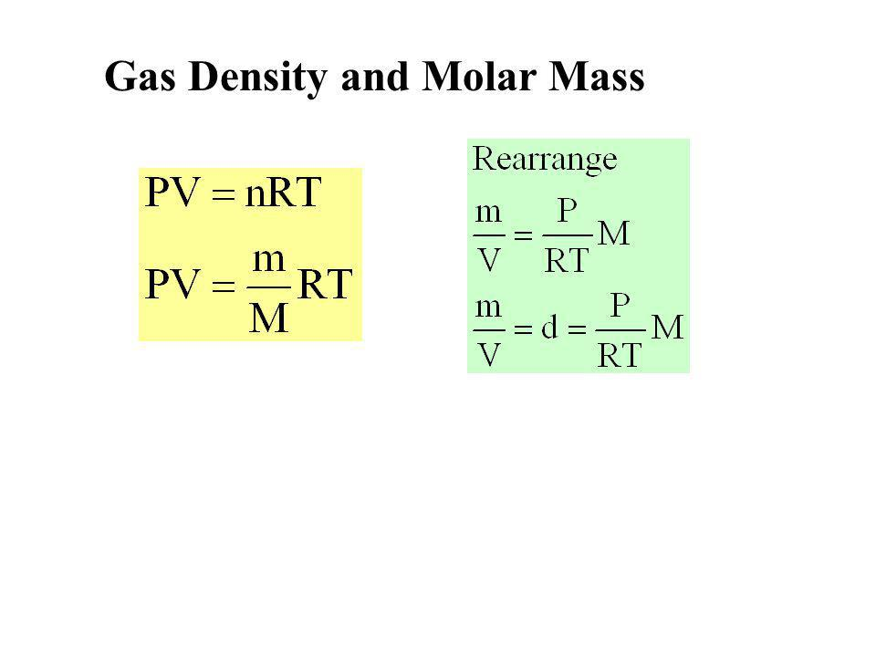 Gas Density and Molar Mass