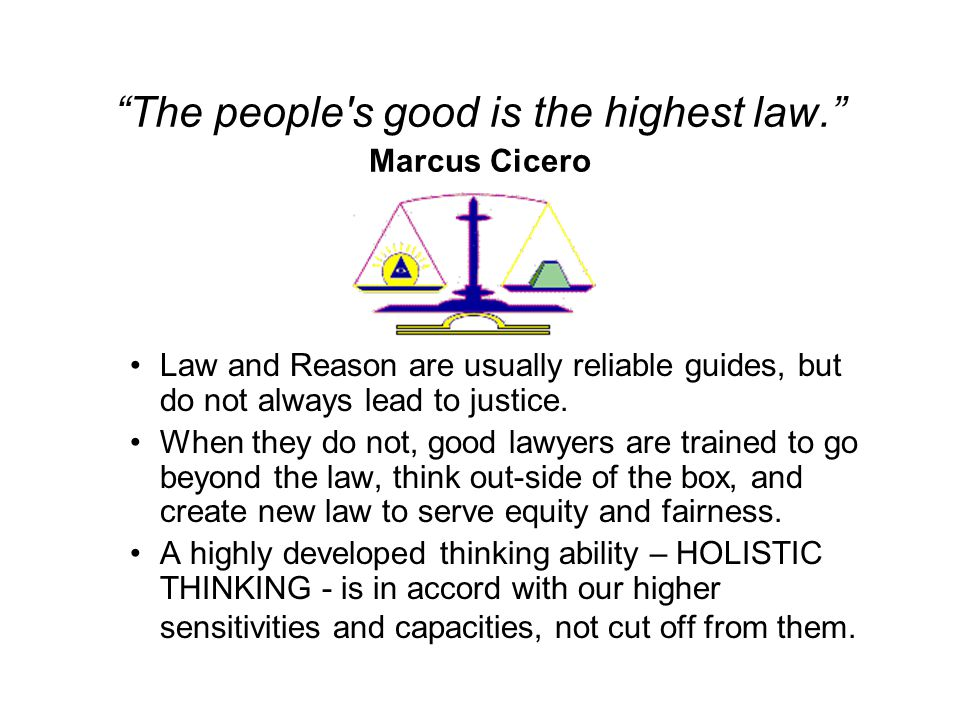 Limitations Of Thinking Every good lawyer comes to understand quite well the inherent limitations of thinking.