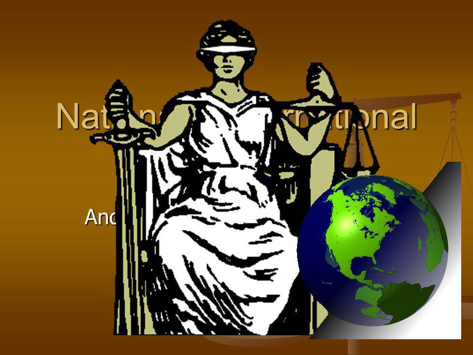 National v International Law And does international law really exist anyway