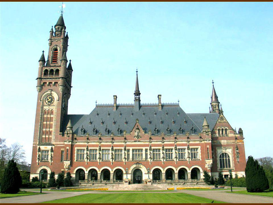 Are There Institutions. Yes, we have the International Court of Justice in the Hague.