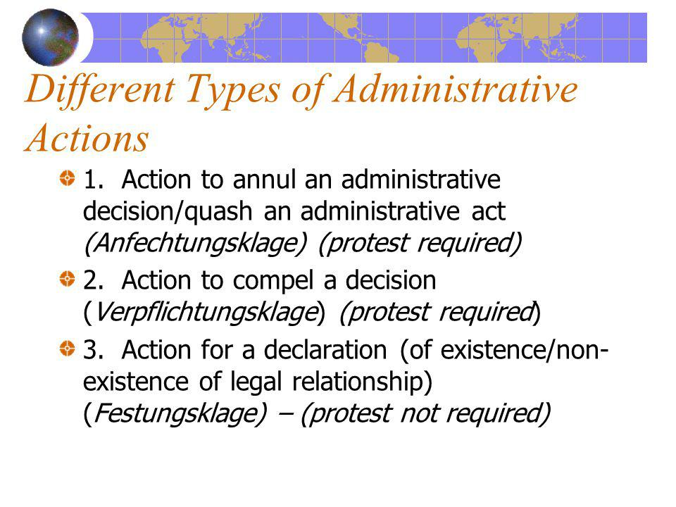 Different Types of Administrative Actions 1.